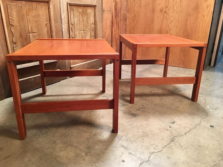 Danish Modern Teak End Tables In Good Condition For Sale In Laguna Hills, CA