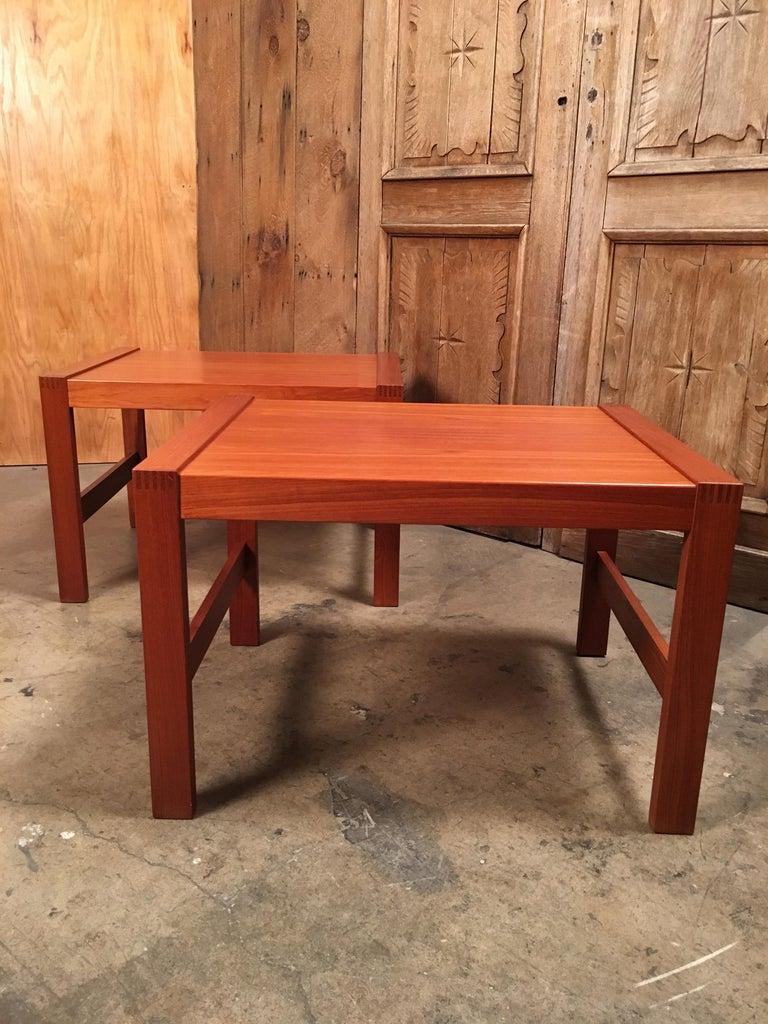 20th Century Danish Modern Teak End Tables For Sale