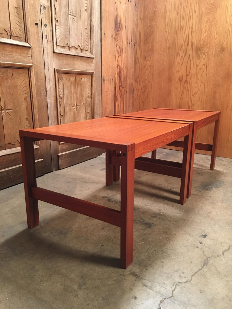 Danish Modern Teak End Tables For Sale 3