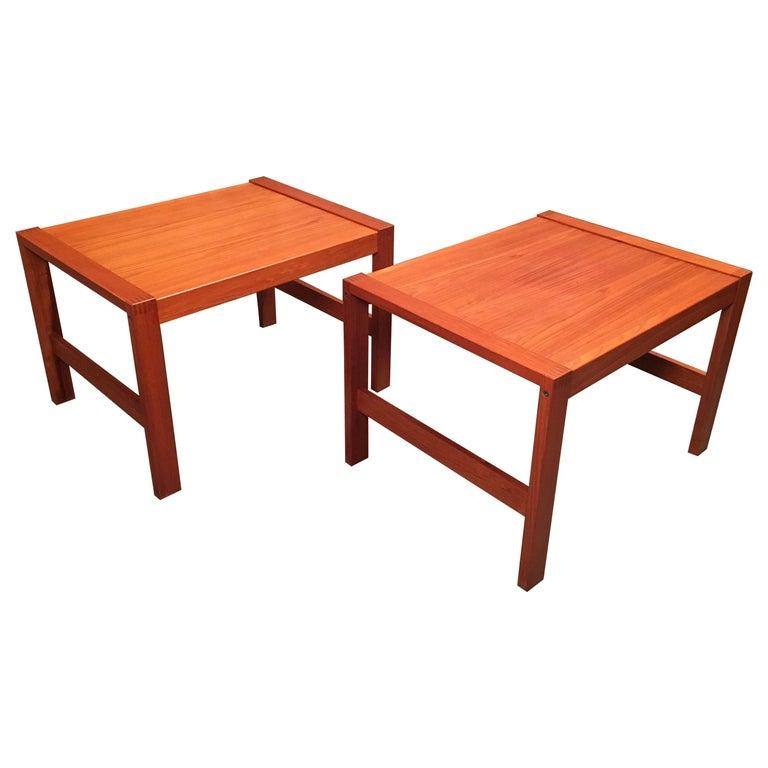 Danish Modern Teak End Tables For Sale