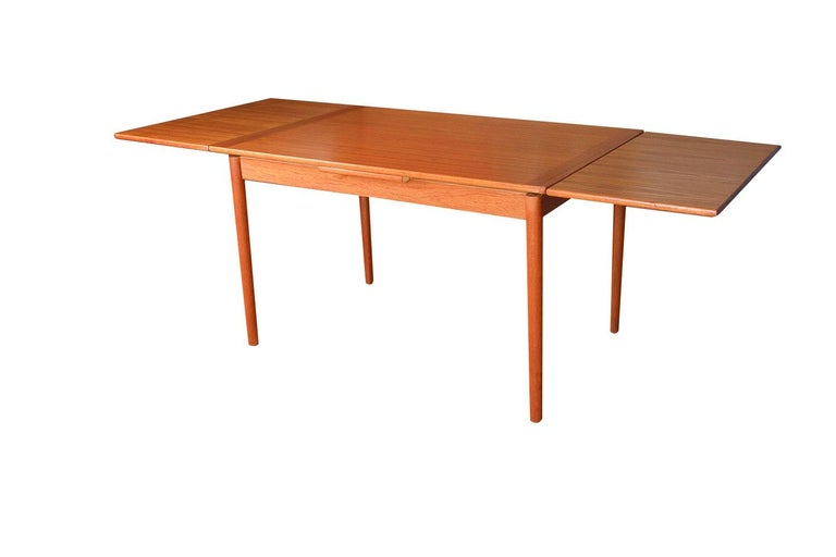 Mid-Century Modern Danish Modern Teak Extendable Dining Table