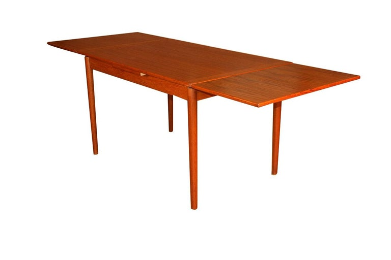 Mid-20th Century Danish Modern Teak Extendable Dining Table