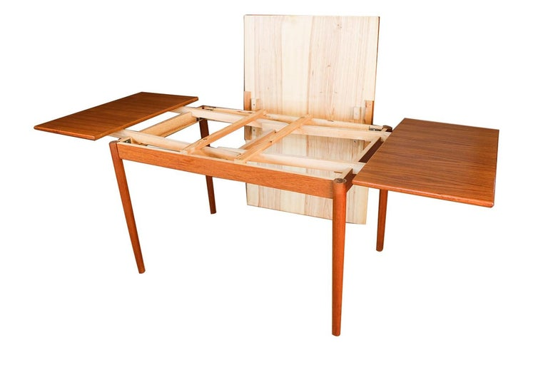Danish Modern Teak Extendable Dining Table 1