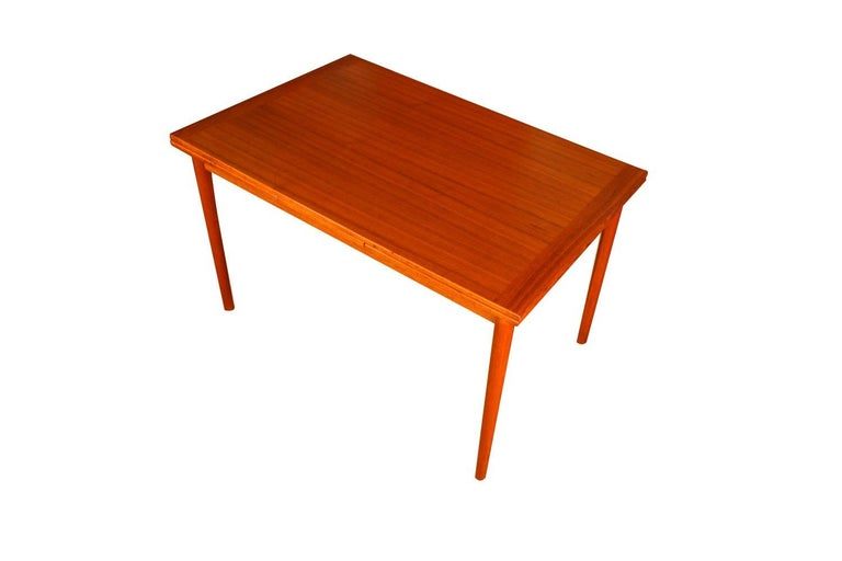 Danish Modern Teak Extendable Dining Table 3