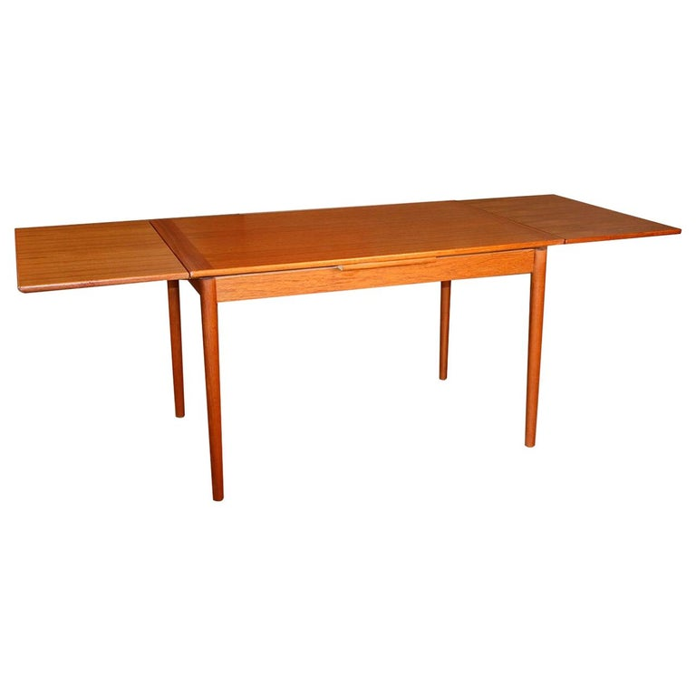 Danish Modern Teak Extendable Dining Table