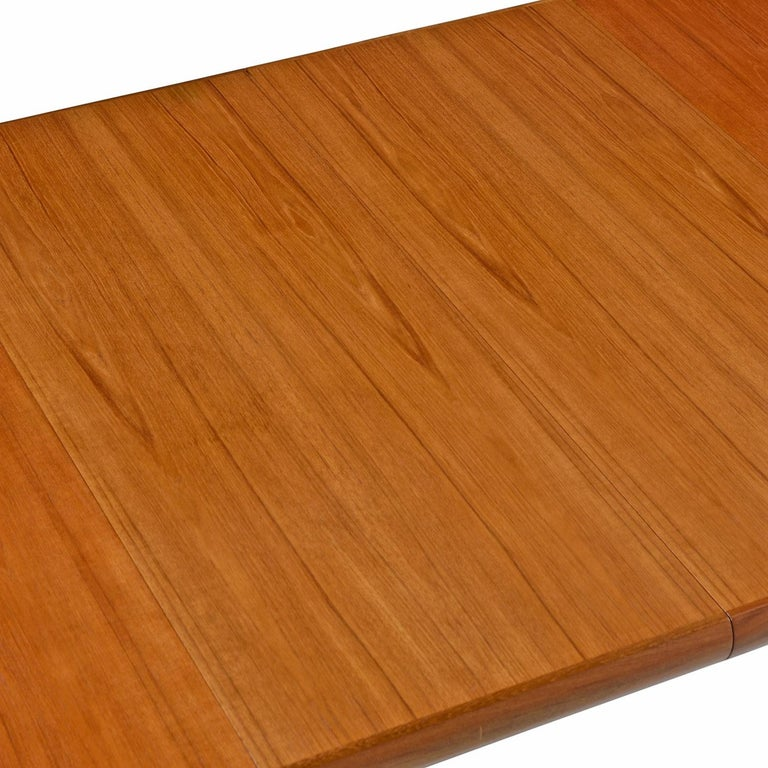 Late 20th Century Danish Modern Teak Extending Dining Table by Interform Collection For Sale
