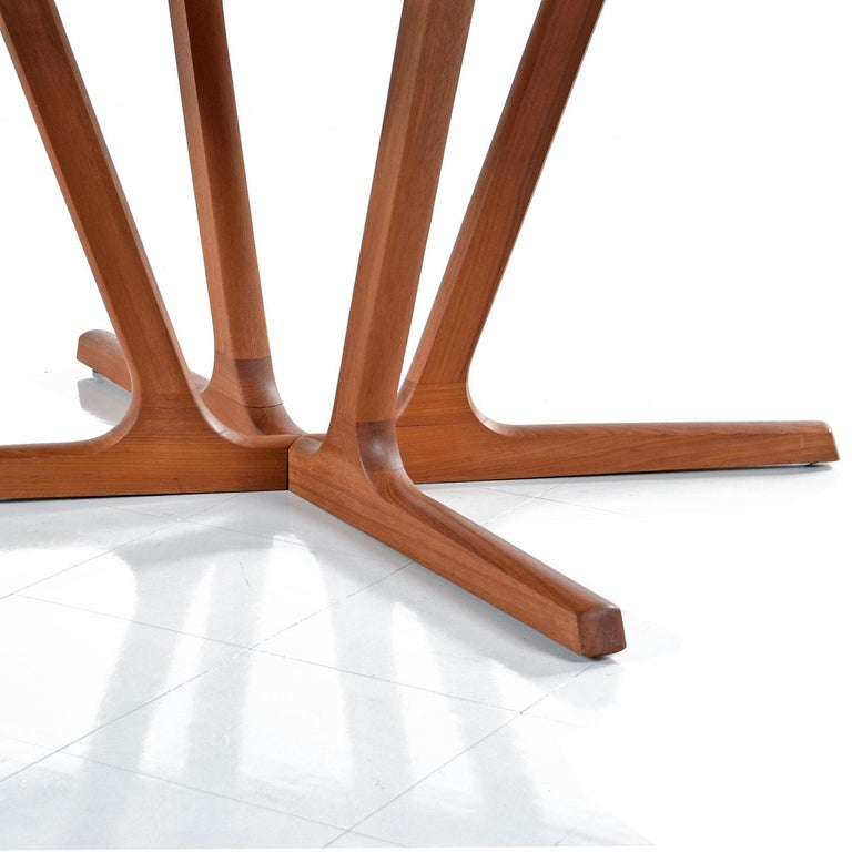 Danish Modern Teak Extending Dining Table by Interform Collection For Sale 1