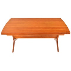 Danish Modern Teak Extension Coffee Table