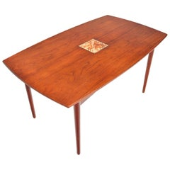 Danish Modern Teak Finn Juhl Style Draw Leaf Dining Table