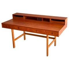 Danish Modern Teak Flip-Top Partners Desk by Peter Løvig Nielsen, circa 1970