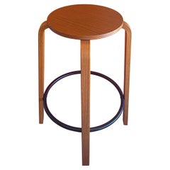 Danish Modern Teak Footrest Barstool