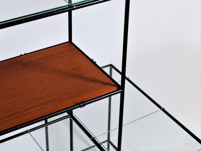 Mid-20th Century Danish Modern Teak & Glass Modular Shelving System