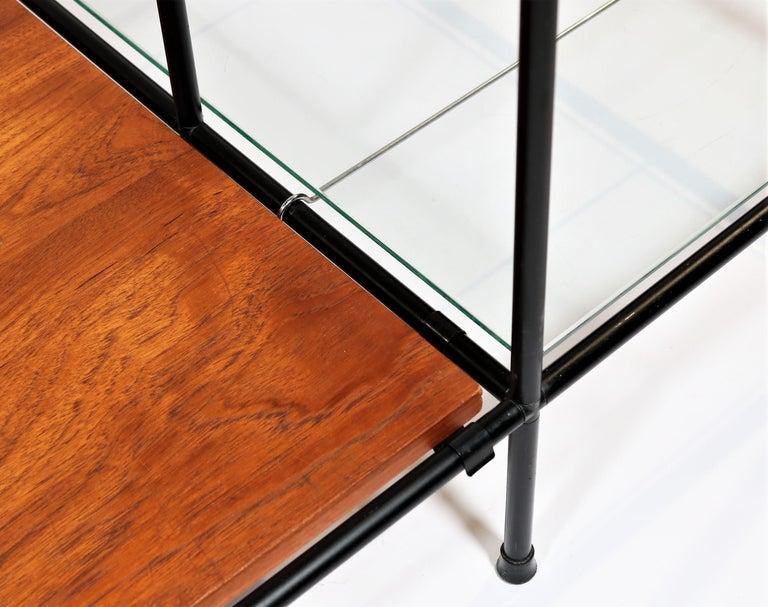 Danish Modern Teak & Glass Modular Shelving System