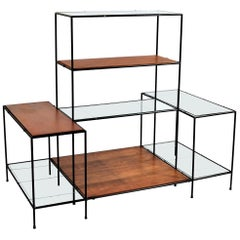 "Danish Modern Teak & Glass Modular Shelving System ""Abstracta"" by Poul Cadovius"