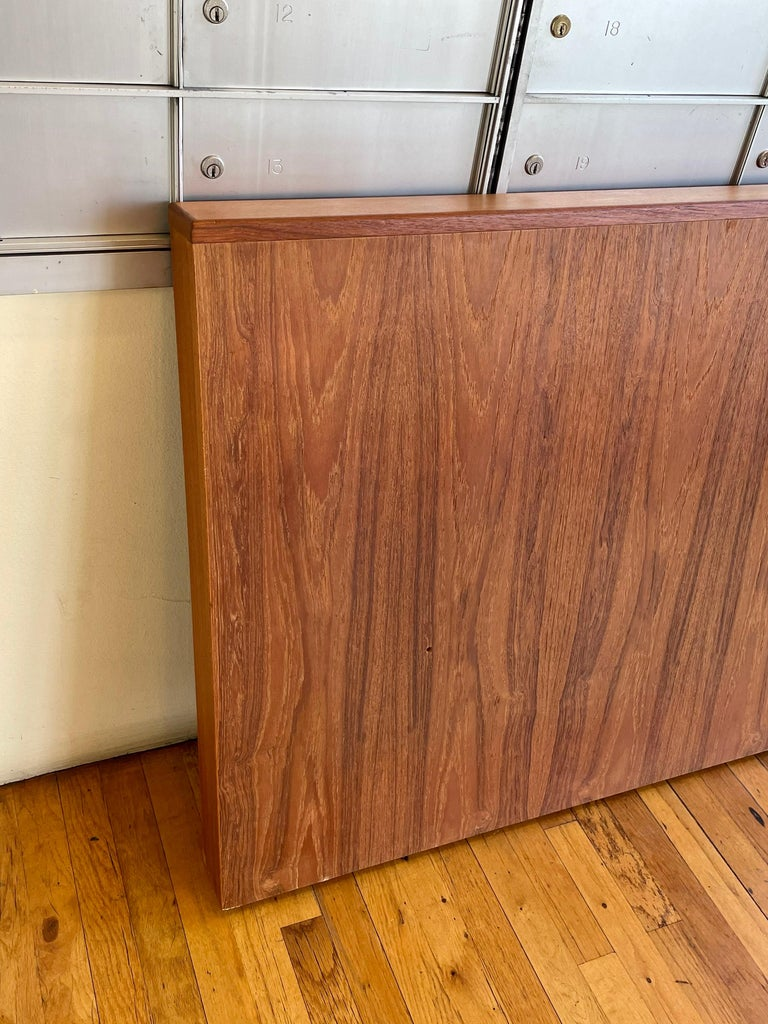 Danish Modern Teak Headboard California King Size In Good Condition For Sale In San Diego, CA