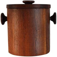 Danish Modern Teak Ice Bucket by Lüthje Wood