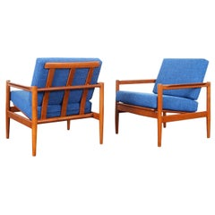 Danish Modern Teak Lounge Chairs by Børge Jensen & Sønner