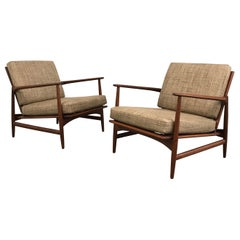 Danish Modern Teak Lounge Chairs by Ib Kofod Larsen for Selig