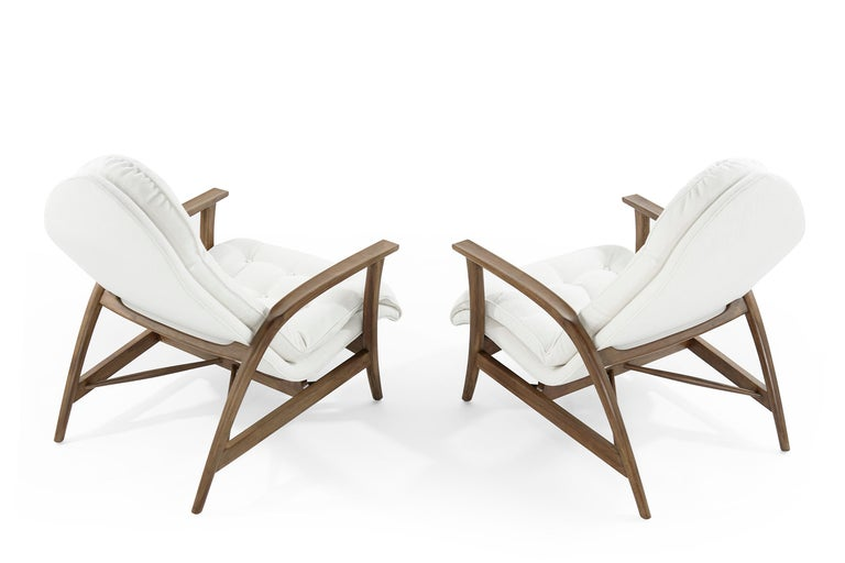 Danish Modern Teak Lounge Chairs In Excellent Condition For Sale In Stamford, CT