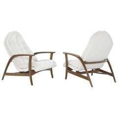 Danish Modern Teak Lounge Chairs