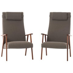 Danish Modern Teak Lounge Chairs, Set of 2