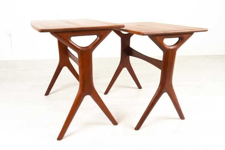 Danish Modern Teak Nesting Tables by Johannes Andersen for CFC, 1960s For Sale 5