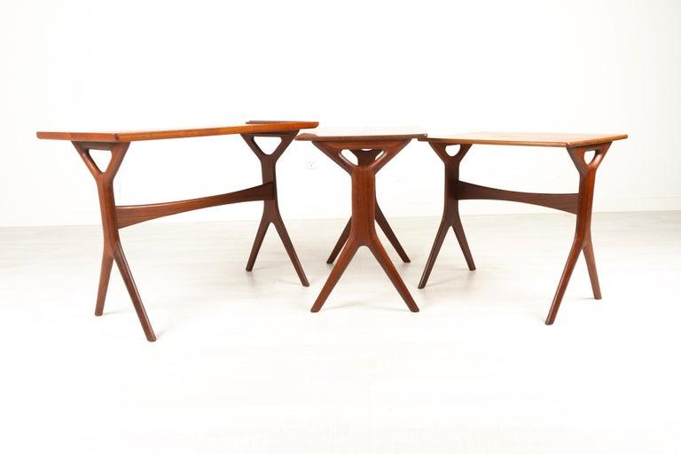 Danish Modern Teak Nesting Tables by Johannes Andersen for CFC, 1960s For Sale 9