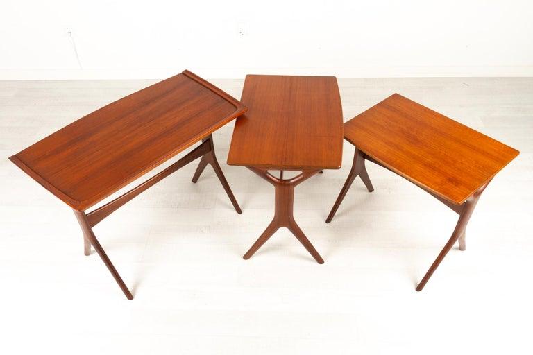 Danish Modern Teak Nesting Tables by Johannes Andersen for CFC, 1960s For Sale 10