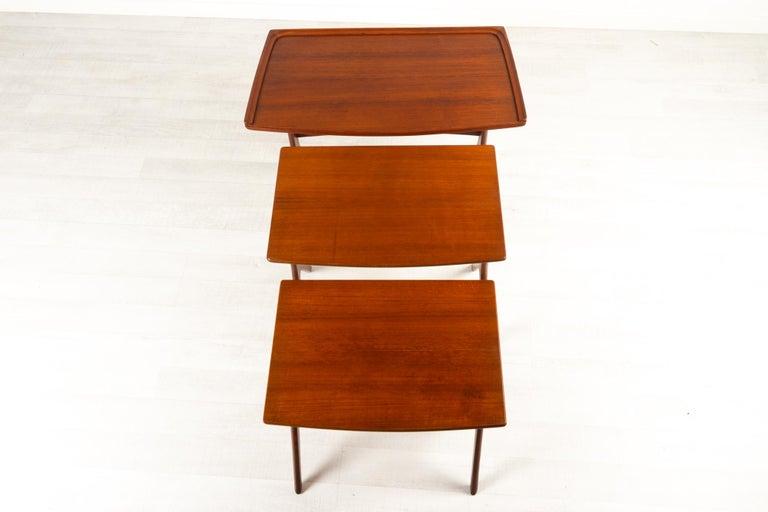 Danish Modern Teak Nesting Tables by Johannes Andersen for CFC, 1960s For Sale 12
