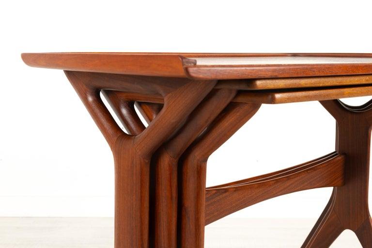 Danish Modern Teak Nesting Tables by Johannes Andersen for CFC, 1960s For Sale 14
