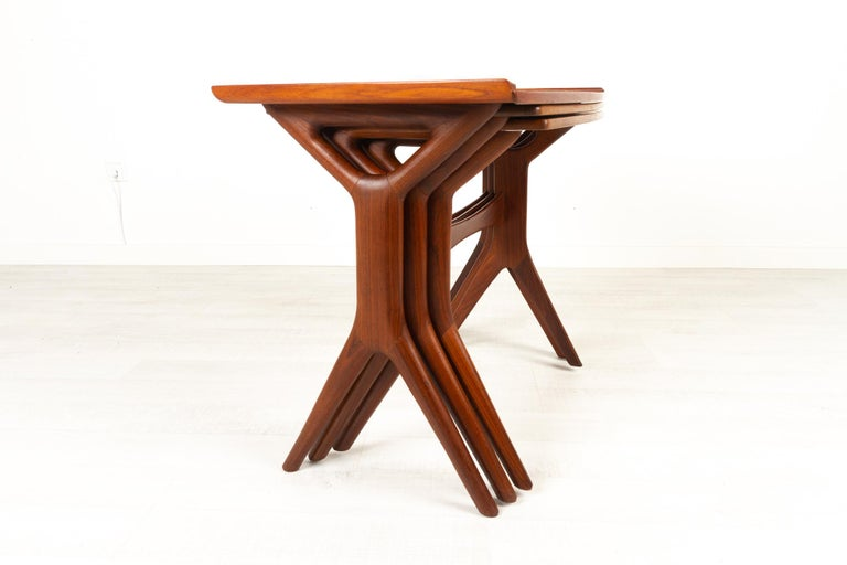 Danish Modern Teak Nesting Tables by Johannes Andersen for CFC, 1960s In Good Condition For Sale In Nibe, Nordjylland