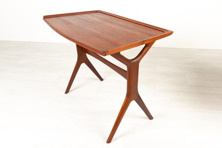 Danish Modern Teak Nesting Tables by Johannes Andersen for CFC, 1960s For Sale 1