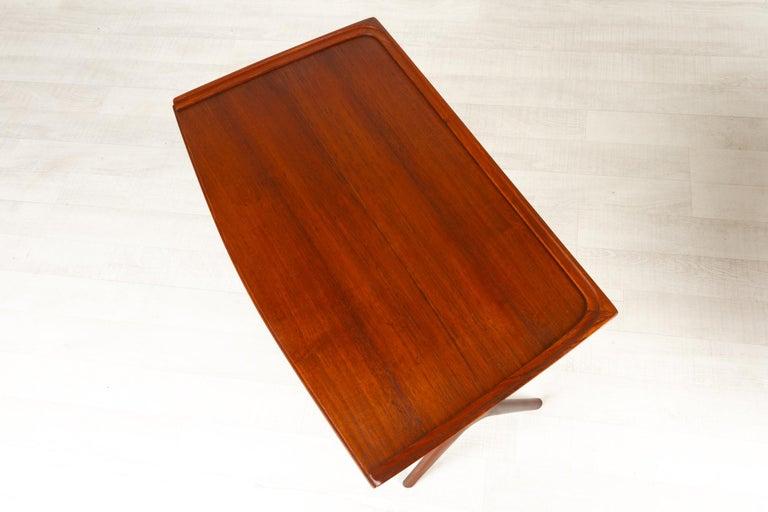 Danish Modern Teak Nesting Tables by Johannes Andersen for CFC, 1960s For Sale 2