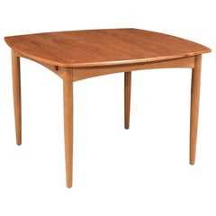 Danish Modern Teak & Oak Butterfly Leaf Dining Table