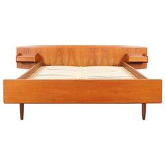 Danish Modern Teak Queen Bed by Melvin Mikkelsen