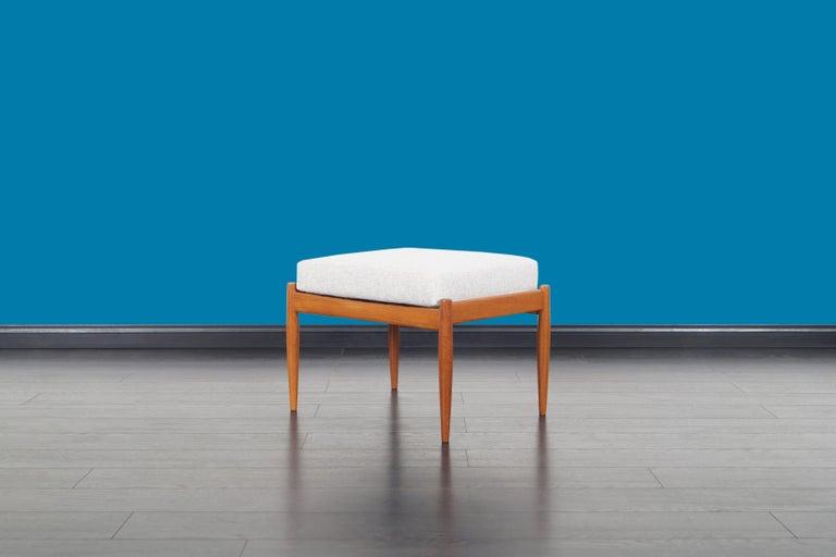 Danish Modern Teak Reclining Lounge Chair and Ottoman For Sale 5