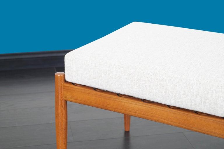 Danish Modern Teak Reclining Lounge Chair and Ottoman For Sale 6