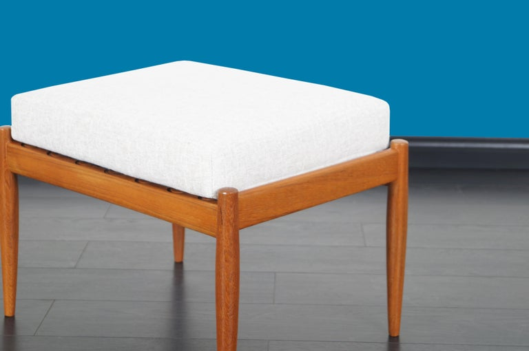 Danish Modern Teak Reclining Lounge Chair and Ottoman For Sale 7