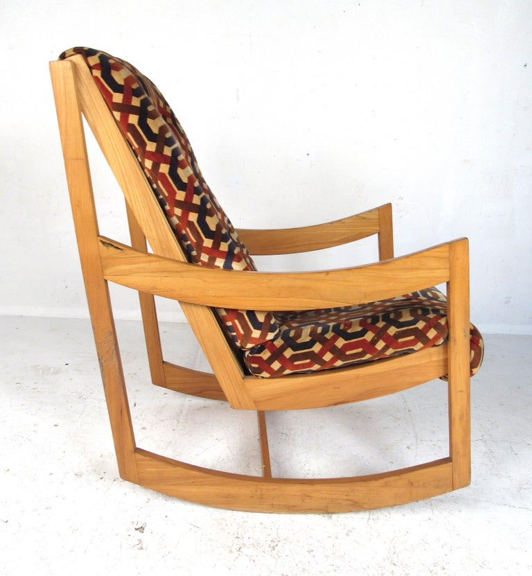 Astonishing Danish Modern Teak Rocking Chair Creativecarmelina Interior Chair Design Creativecarmelinacom