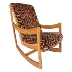 Danish Modern Teak Rocking Chair