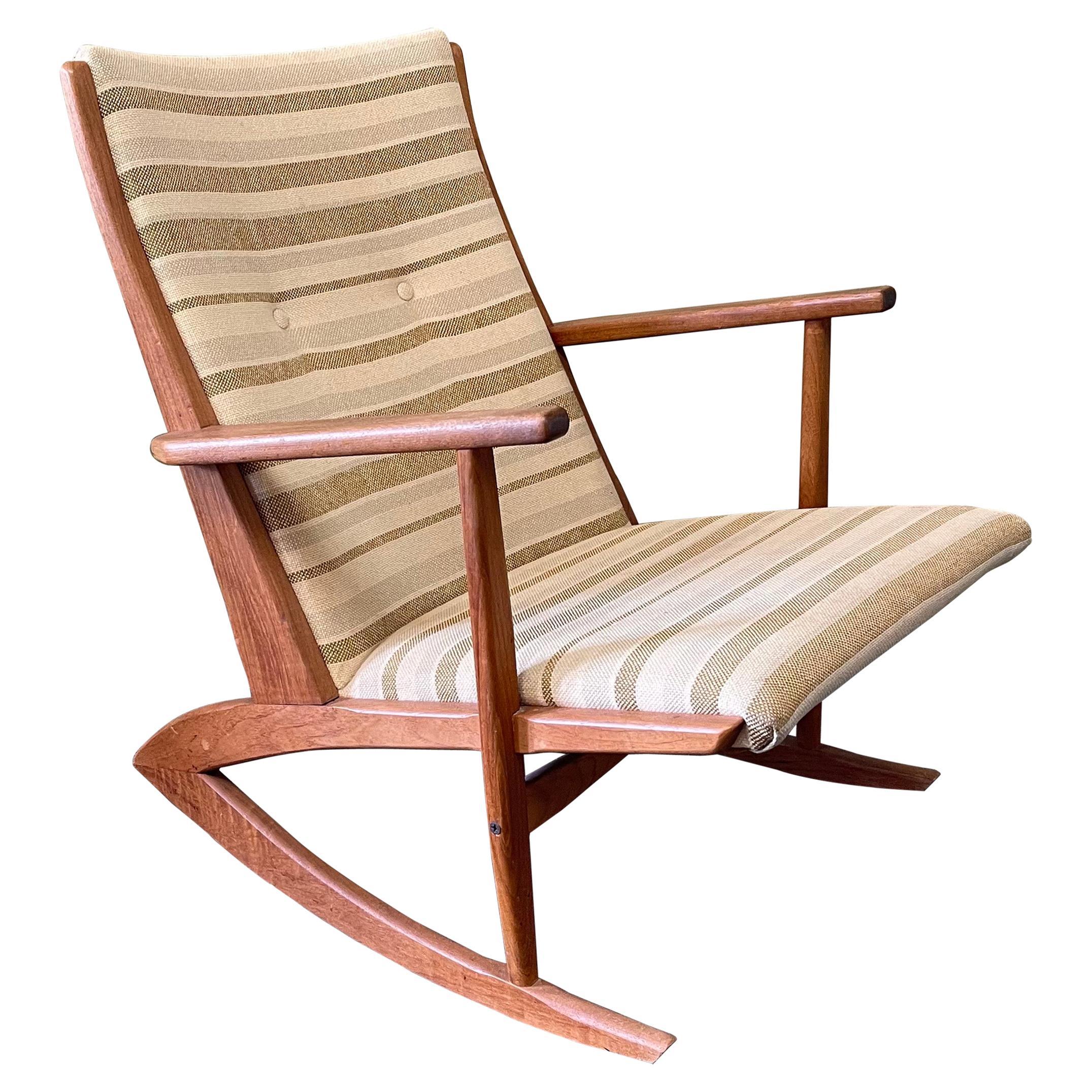 Danish Modern Teak Rocking Chairs by Holger Georg Jensen for Tonder Mobelvaerk