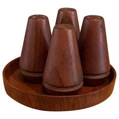 Danish Modern Teak Salt And Pepper Set by Ludvig Pontoppidan