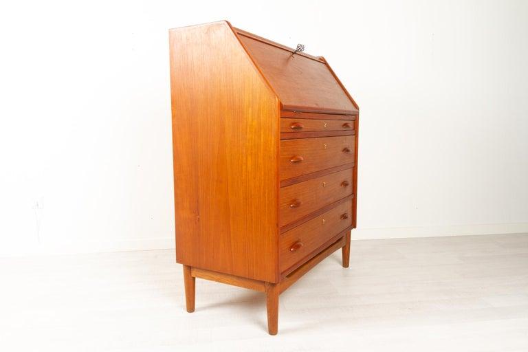 Danish Modern Teak Secretaire, 1960s For Sale 5