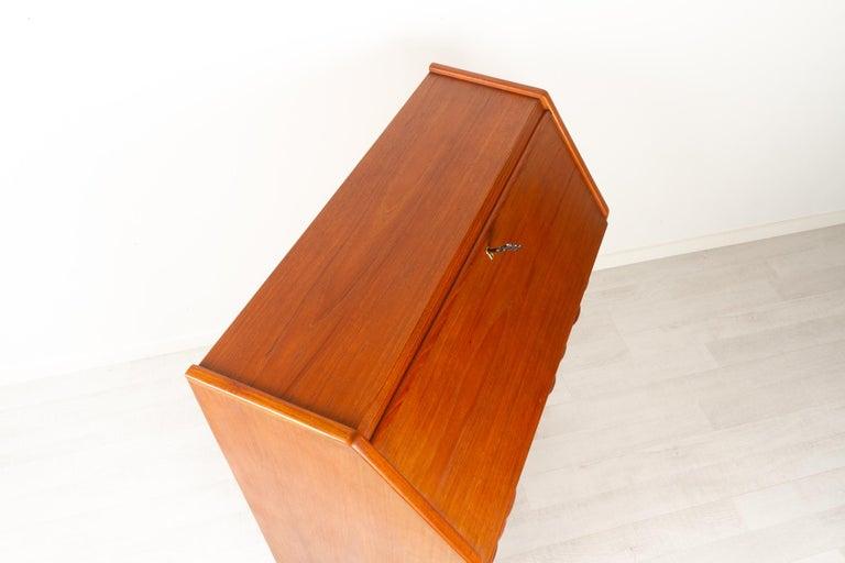Danish Modern Teak Secretaire, 1960s For Sale 6