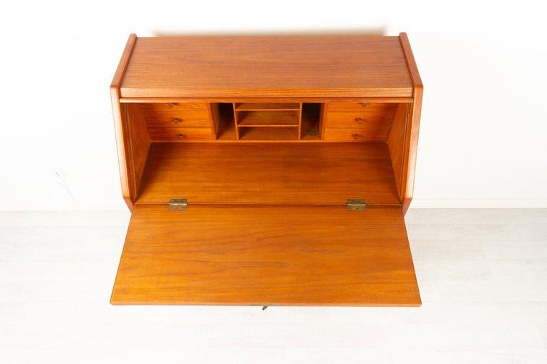 Danish Modern Teak Secretaire, 1960s For Sale 8