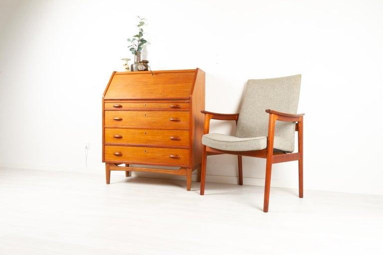 Danish Modern Teak Secretaire, 1960s For Sale 12