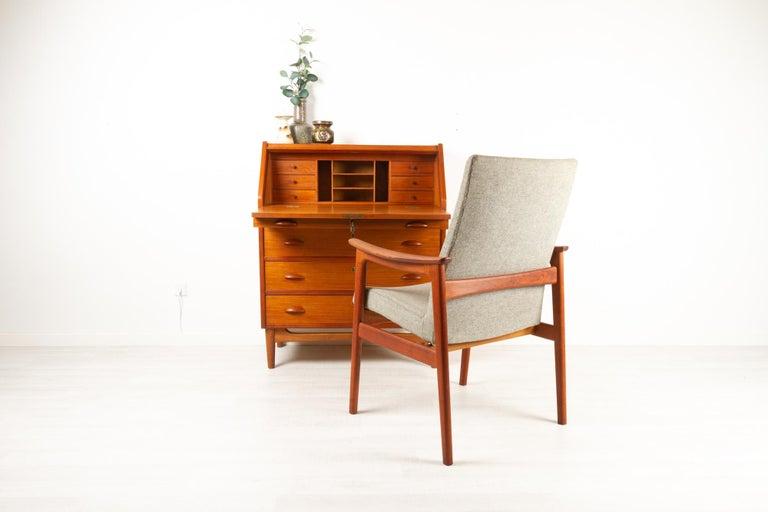 Danish Modern Teak Secretaire, 1960s For Sale 15