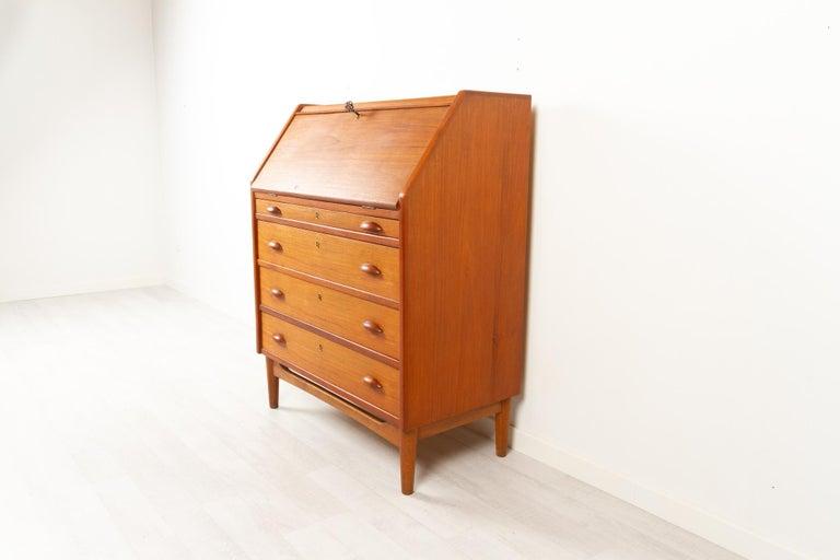 Mid-20th Century Danish Modern Teak Secretaire, 1960s For Sale
