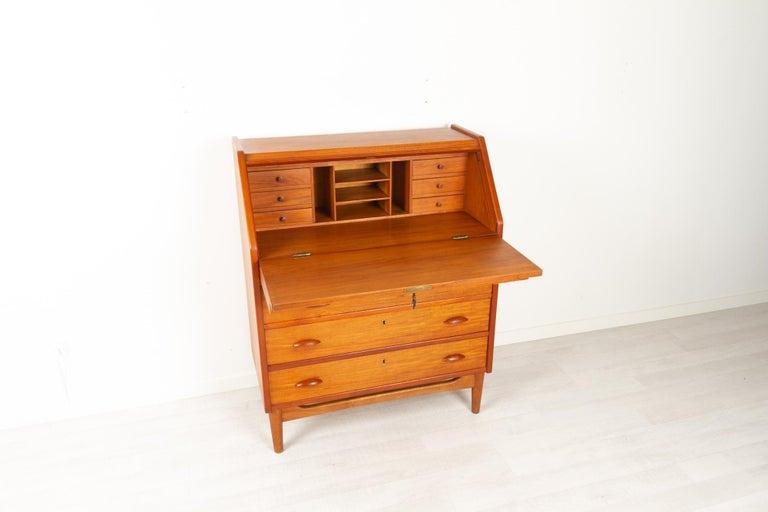 Danish Modern Teak Secretaire, 1960s For Sale 1