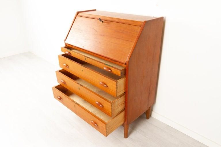 Danish Modern Teak Secretaire, 1960s For Sale 4